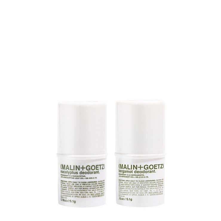 trial size bergamot and eucalyptus deodorants