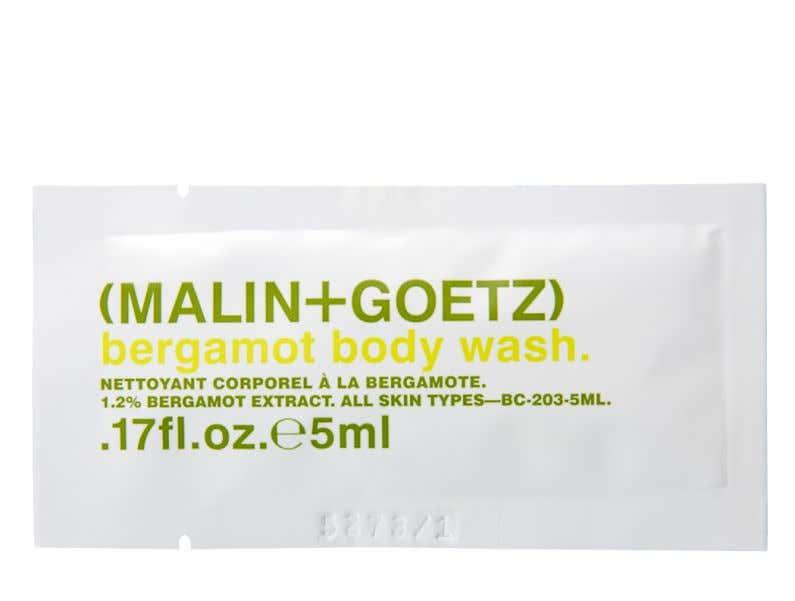 bergamot body wash sample