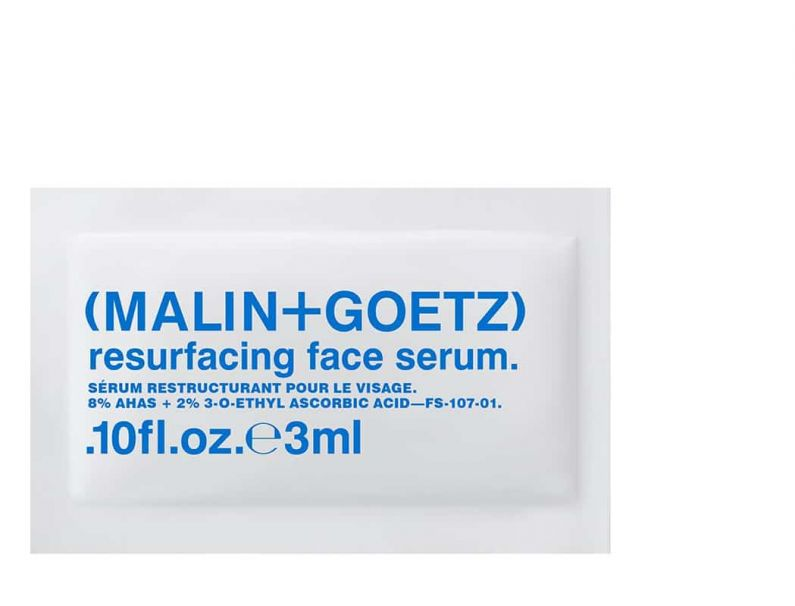 resurfacing face serum sample (on us).