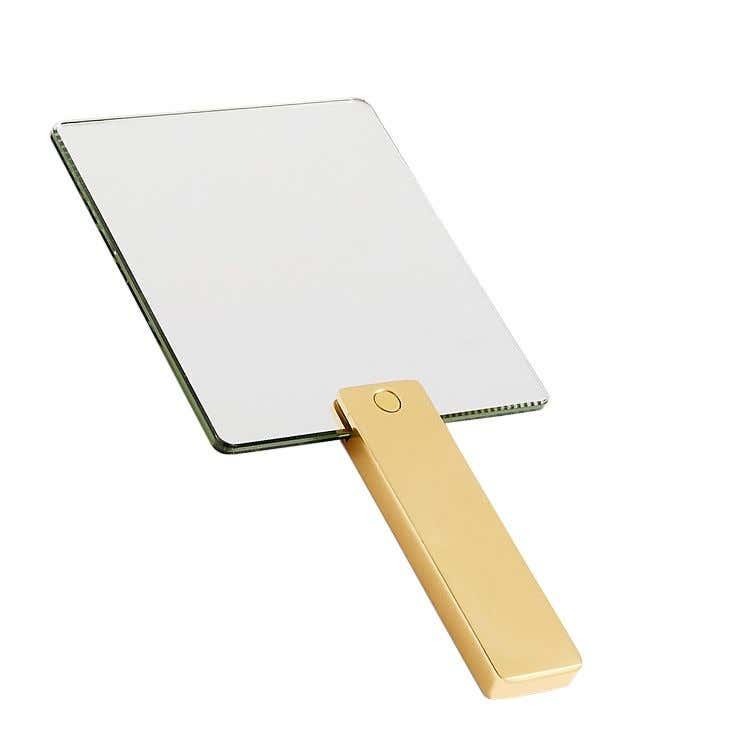 brass mirror square