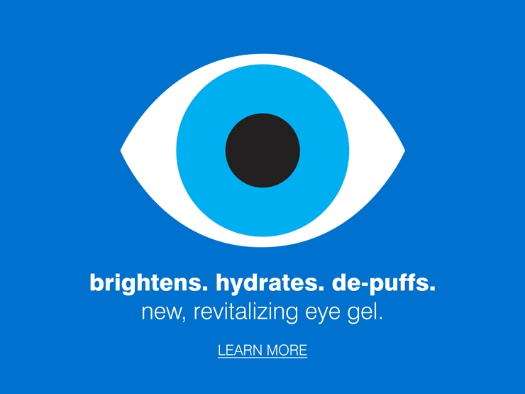 new, revitalizing eye gel.