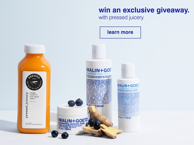 exclusive giveaway with pressed juicery.