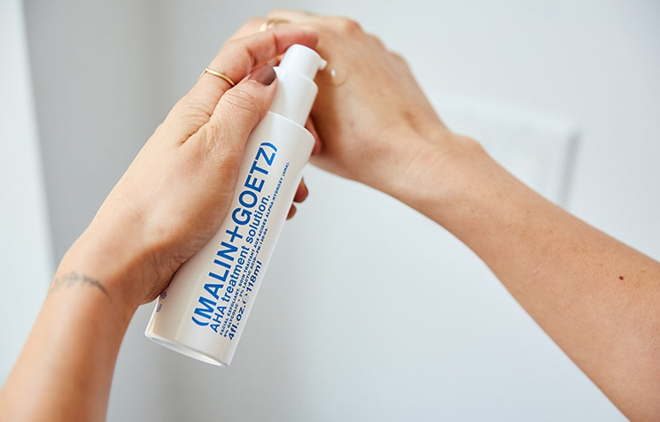 AHA Treatment Solution on Hands